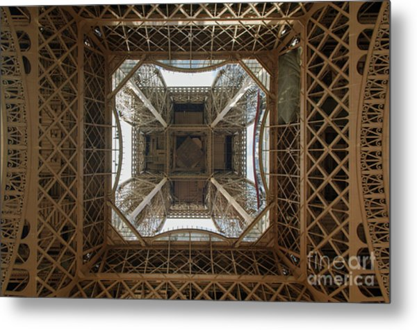 Eiffel Tower Abstract Metal Print