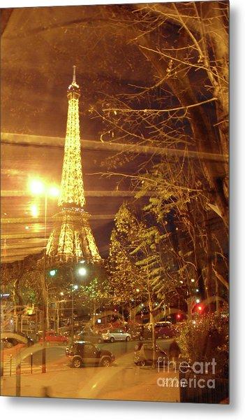 Eiffel Tower By Bus Tour Metal Print
