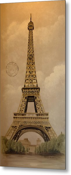Eiffel Tower Metal Print by Holly Whiting