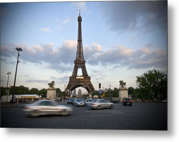 Eiffel Tower Metal Print by Krista  Corcoran Photography