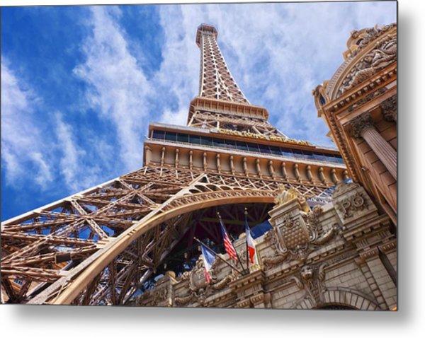 Metal Print featuring the photograph Eiffel Tower Las Vegas  by Ricardo J Ruiz de Porras