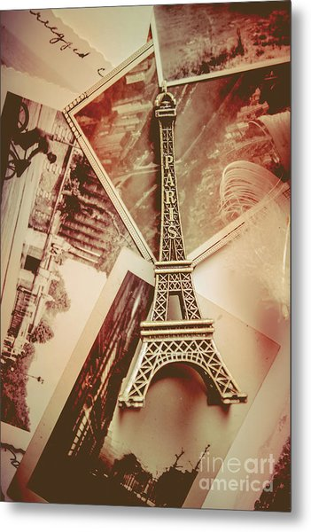 Eiffel Tower Old Romantic Stories In Ancient Paris Metal Print