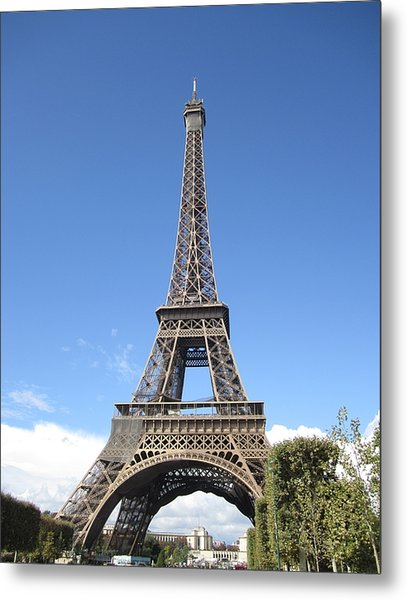 Eiffel Tower Tarped Ix Paris France Metal Print