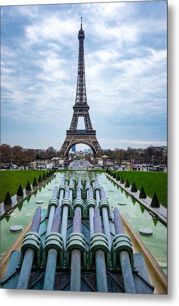 Eiffeltower From Trocadero Garden Metal Print