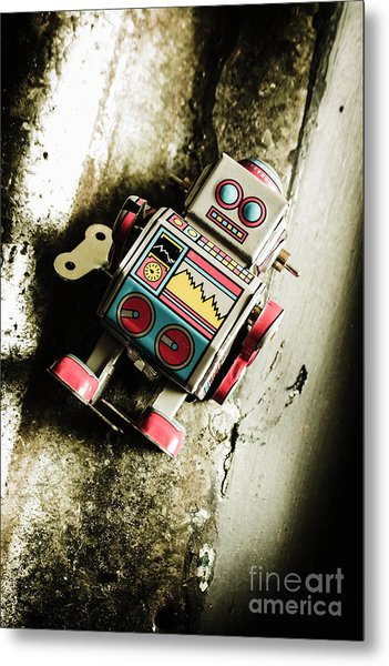 Eighties Cybernetic Droid  Metal Print