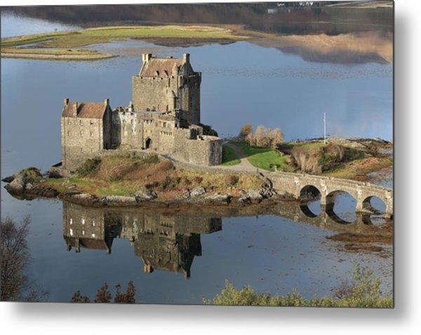 Eilean Donan Castle Reflections Metal Print