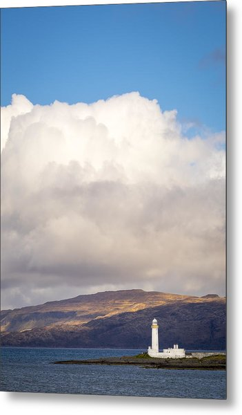 Eilean Musdile Lighthouse On Lismore Metal Print