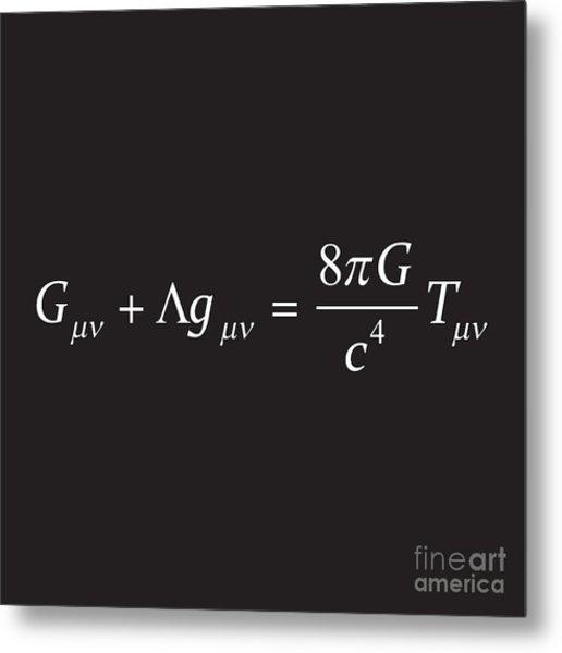 Einstein Field Equation Formula Metal Print