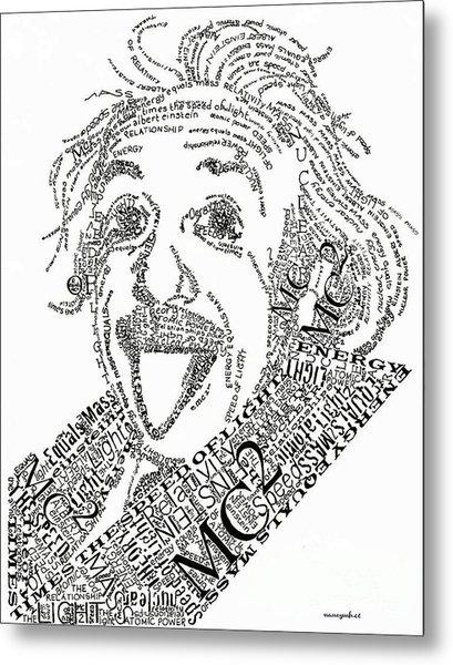 Einsteined. Metal Print