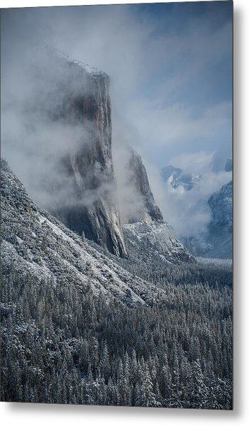 El Capitan In Clouds Metal Print