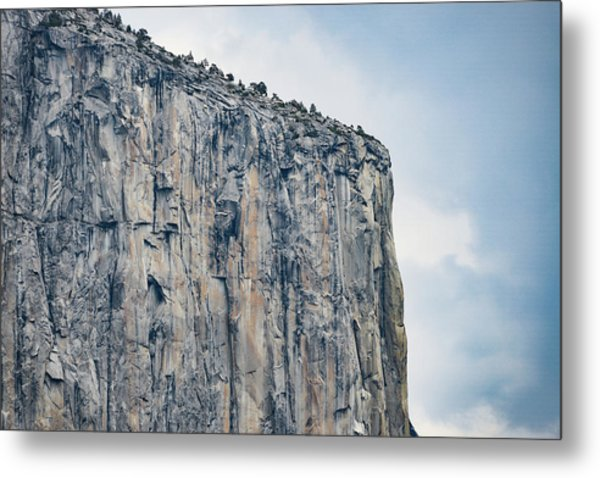 El Capitan Up Close And Personal From Tunnel View Yosemite Np Metal Print