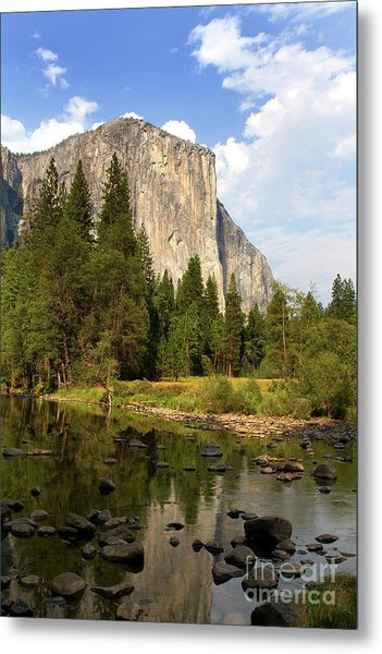 Metal Print featuring the photograph El Capitan Yosemite National Park California by Steven Frame