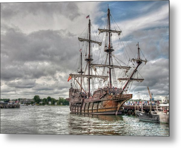 El Galeon Andalucia In Portsmouth Metal Print