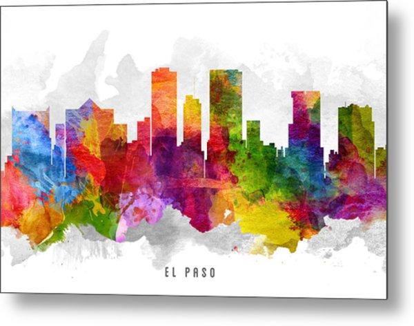 El Paso Texas Cityscape 13 Metal Print