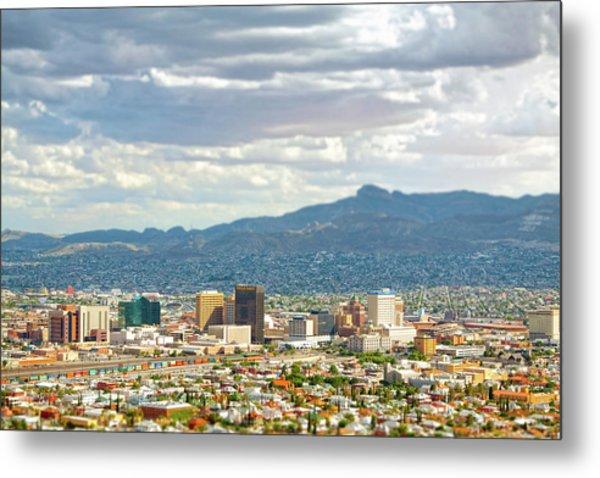 El Paso Texas Downtown View Metal Print