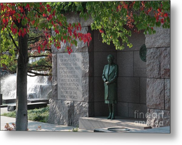 Eleanor's Alcove At The Fdr Memorial In Washington Dc Metal Print