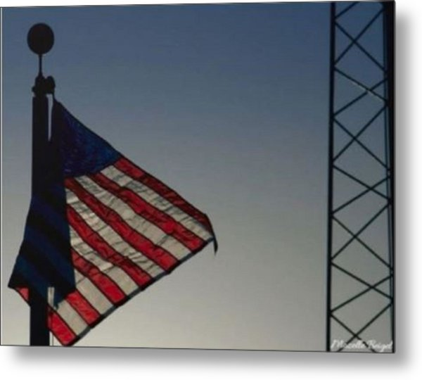 Electric Flag Metal Print