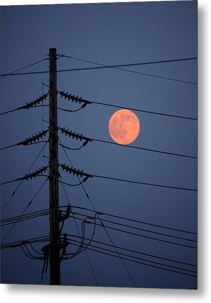 Electric Moon Metal Print