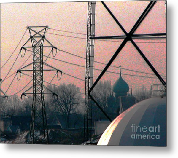 Electric Onion Domes Metal Print by Donna Stewart
