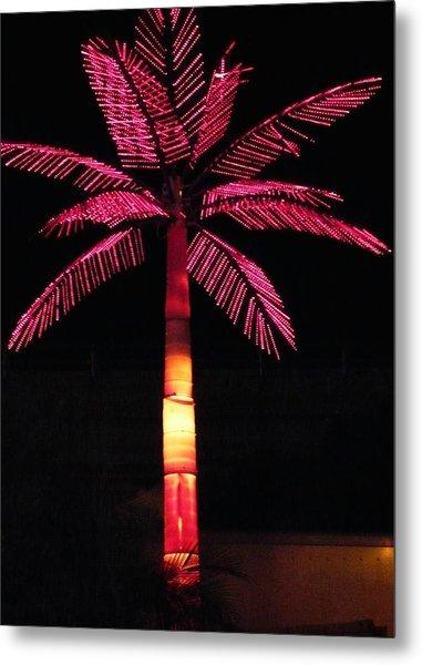 Electric Palm Metal Print by Florene Welebny