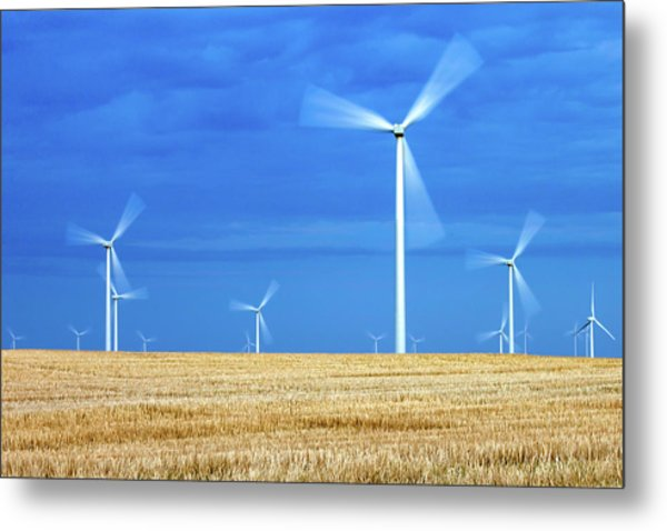 Electric Pinwheels Metal Print