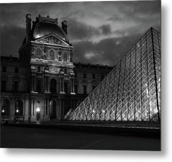 Electric Pyramid, Louvre, Paris, France Metal Print