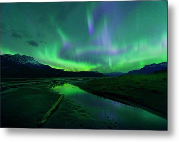 Electric Skies Over Jasper National Park Metal Print
