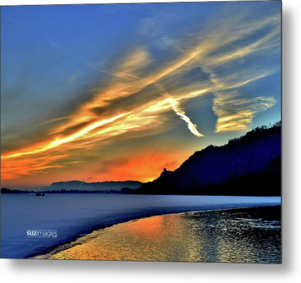 Electric Sunrise Metal Print