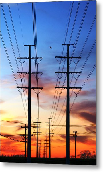 Electric Sunset Metal Print