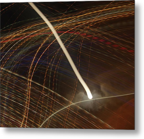 Metal Print featuring the pyrography Electric Universe by Michael Lucarelli