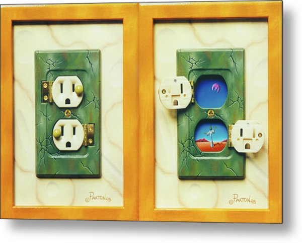 Electric View Miniature Shown Closed And Open Metal Print