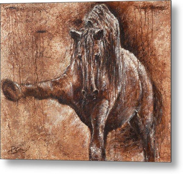 Elegance Of Joy Metal Print by Paula Collewijn -  The Art of Horses