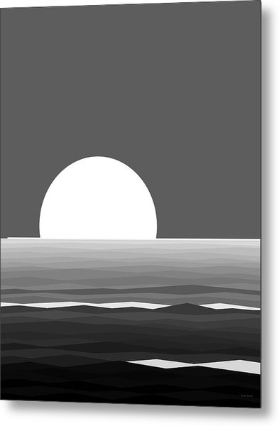 Elements - Black And White Water Metal Print