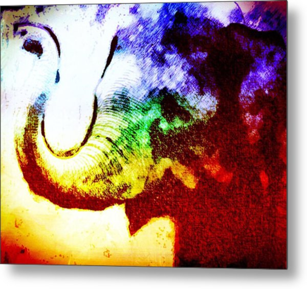 Elephant Energy Metal Print