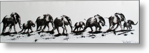 Elephant Fun Metal Print