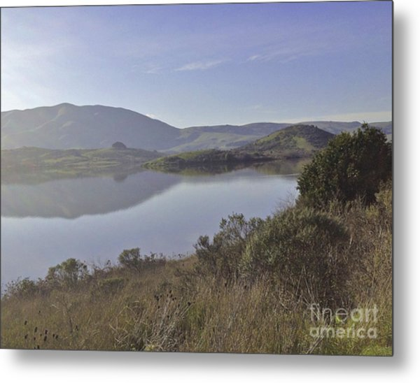Elephant Hill In Mist Metal Print