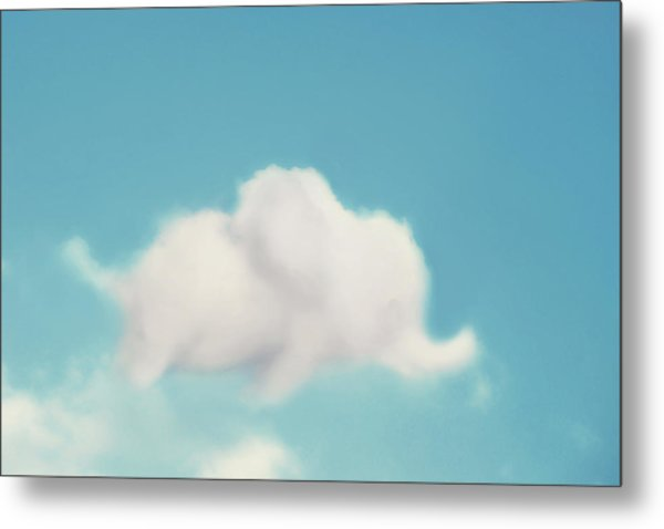 Elephant In The Sky Metal Print