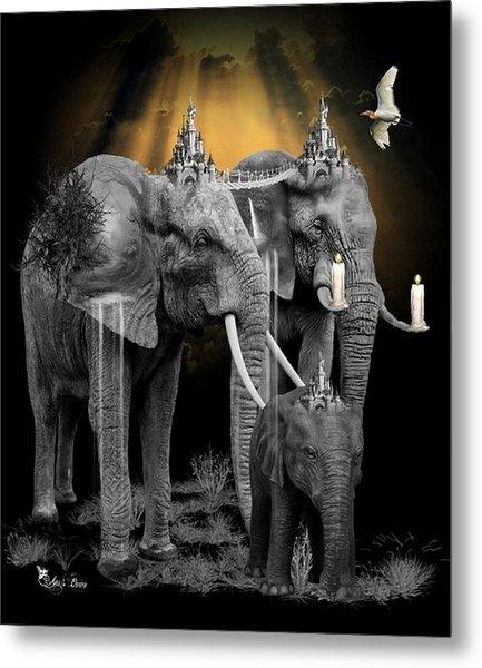 Elephant Kingdom 3 Metal Print