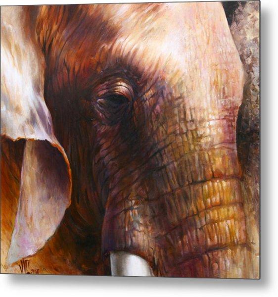 Elephant Empathy Metal Print