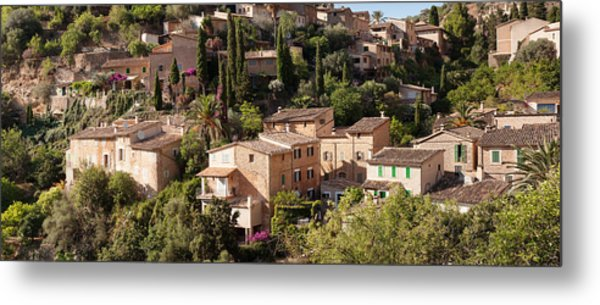 Elevated View Of The Deia, Serra De Metal Print