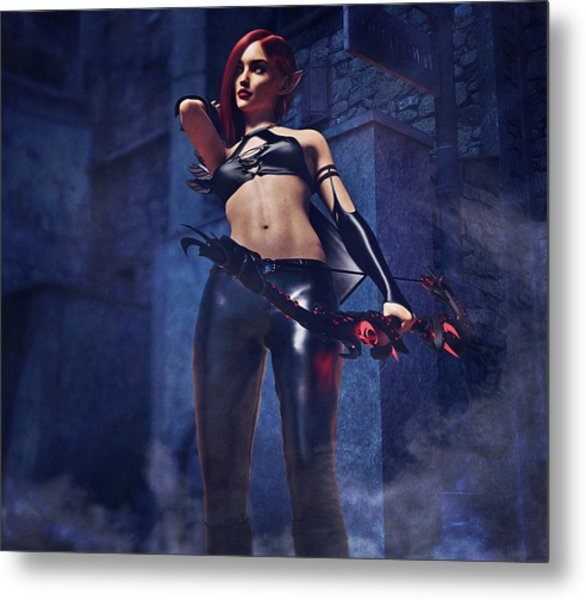 Elf Assassin Metal Print