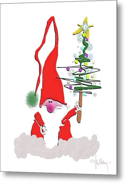 Metal Print featuring the mixed media Elf  by Larry Talley