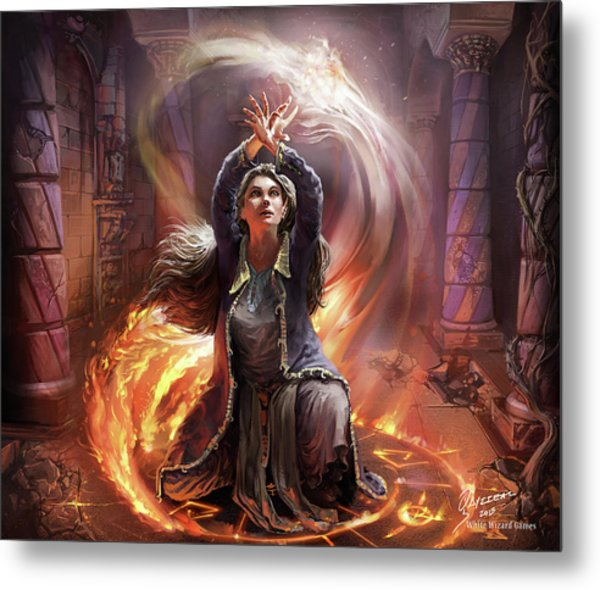 Elf Mage Metal Print