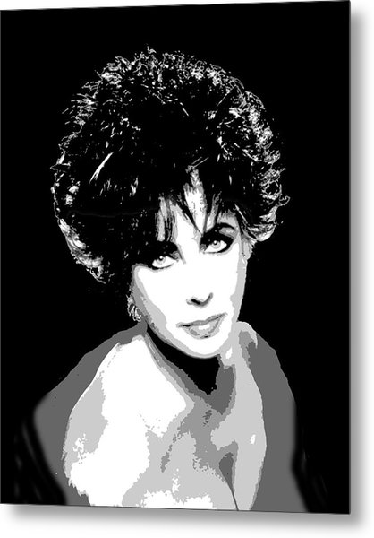 Elizabeth Taylor Metal Print by Richard La Valle