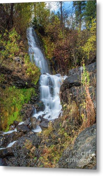 Elk Creek Waterfall Waterscape Art By Kaylyn Franks Metal Print