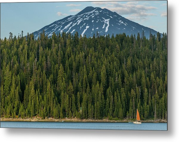 Elk Lake Sailing  Metal Print