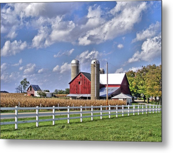 Elkhart County Farm Metal Print