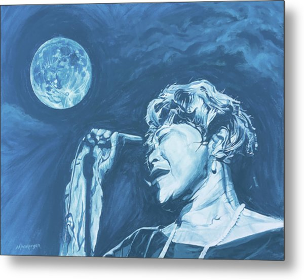 Ella Singing 'blue Moon' Metal Print