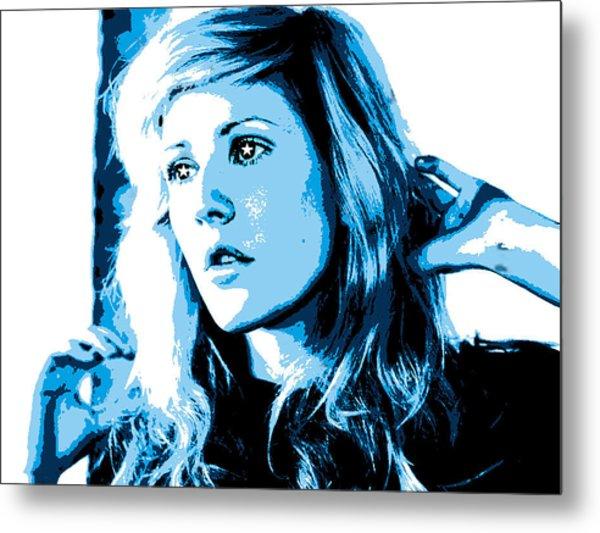 Ellie Goulding Starry Eyed Metal Print