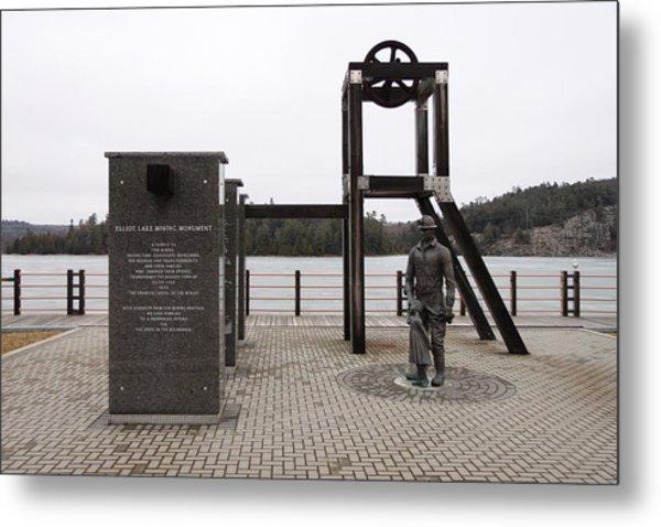 Elliot Lake Mining Monument Metal Print by Richard Mitchell
